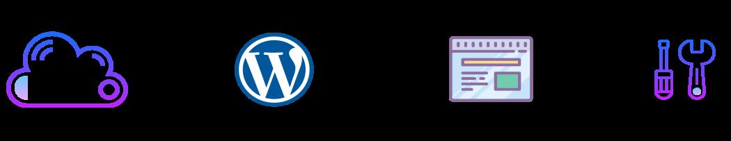 Illustration prix de création d'un site vitrine avec WordPress