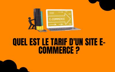 Quel est le tarif d'unsite e-commerce ?
